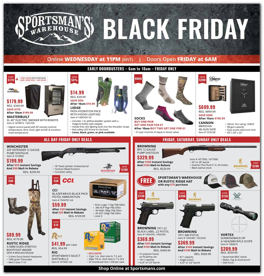 Sportsmans Warehouse Black Friday page 1